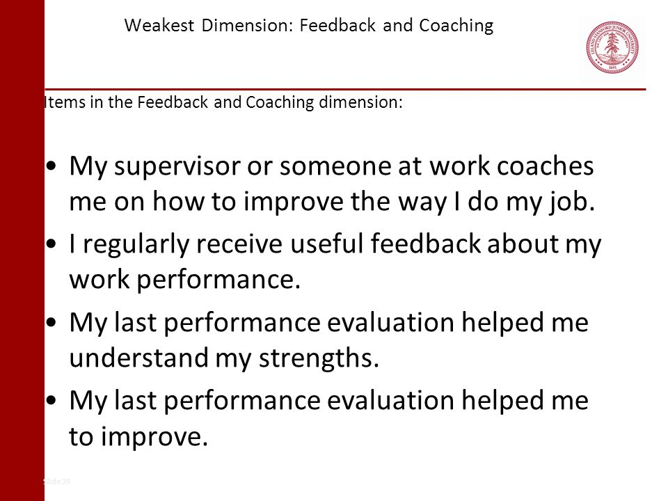 Weakest Dimension: Feedback and Coaching