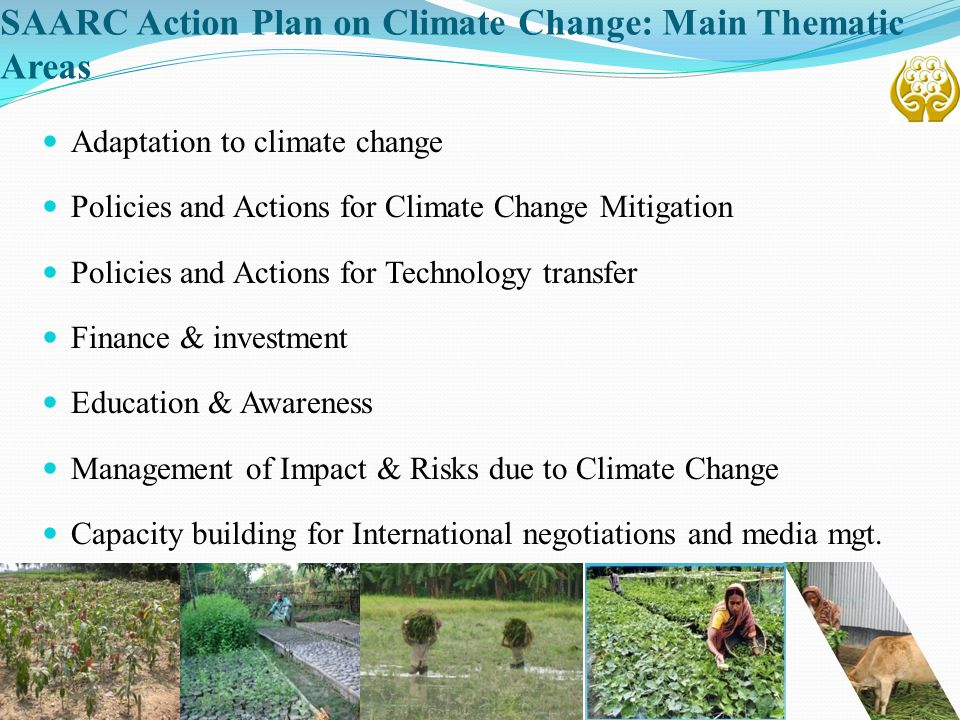 SAARC Action Plan on Climate Change: Main Thematic Areas