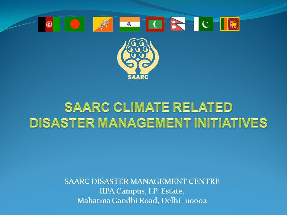 DISASTER MANAGEMENT INITIATIVES