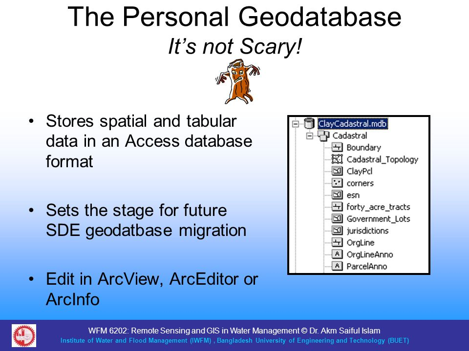 The Personal Geodatabase It's not Scary!