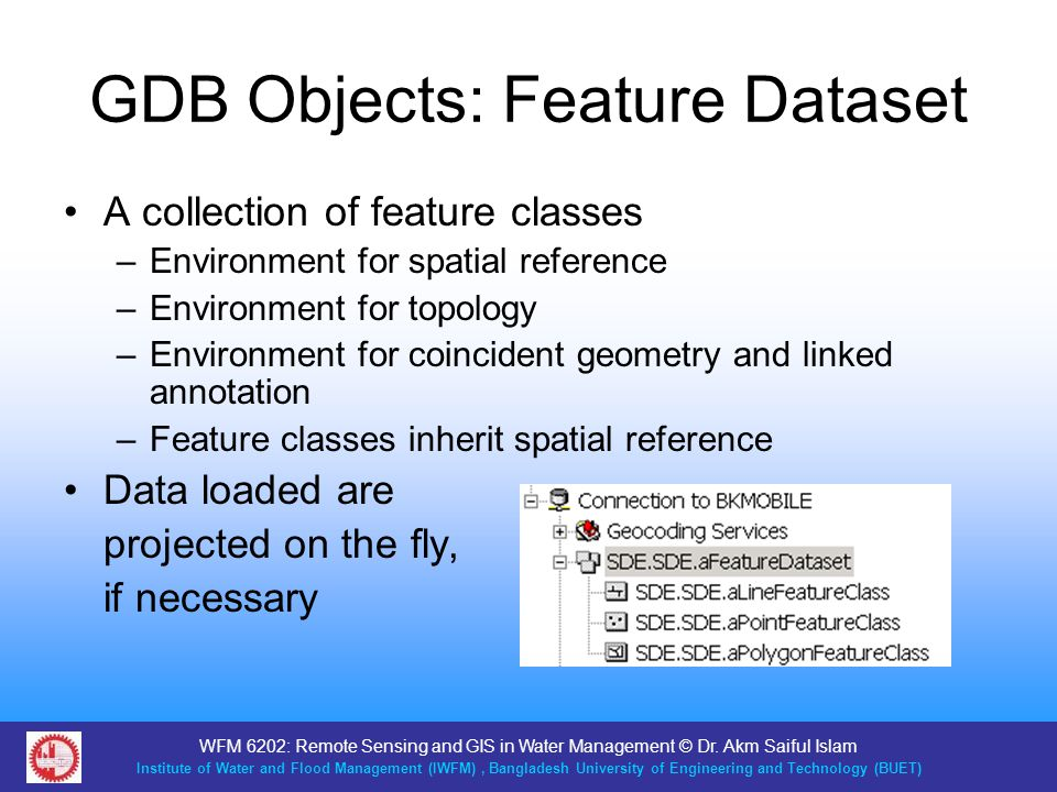 GDB Objects: Feature Dataset