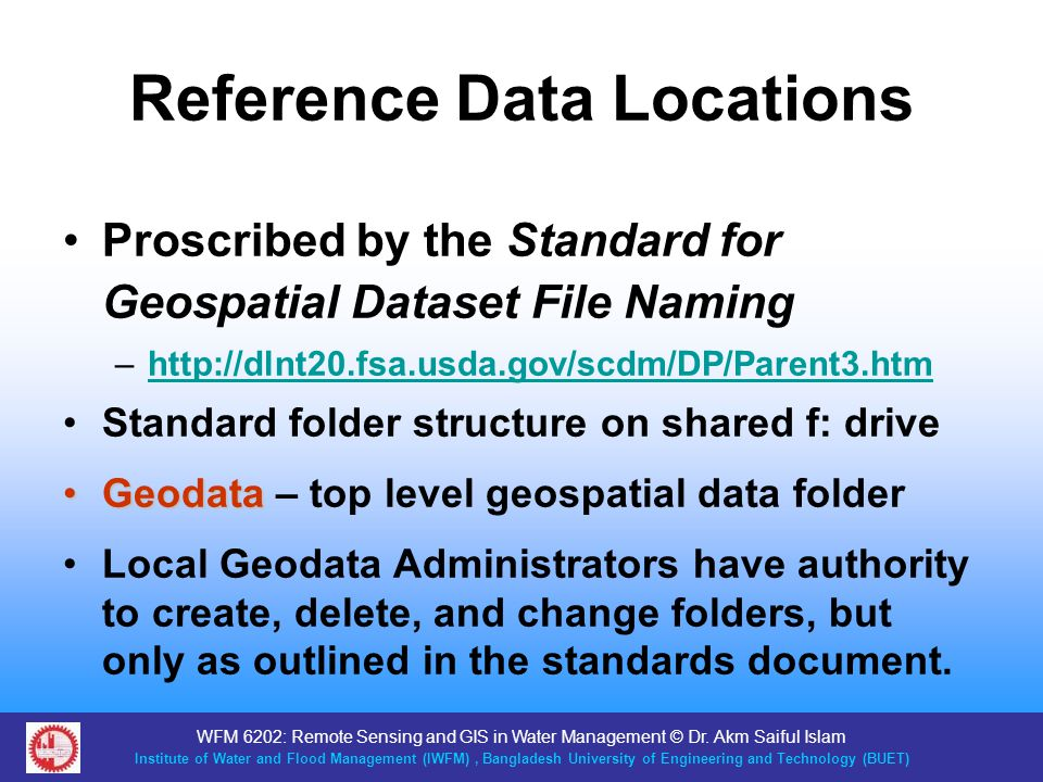 Reference Data Locations