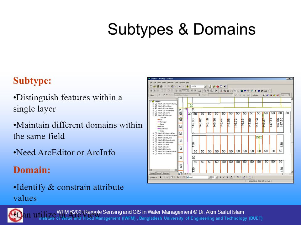 Subtypes & Domains Subtype: Domain: