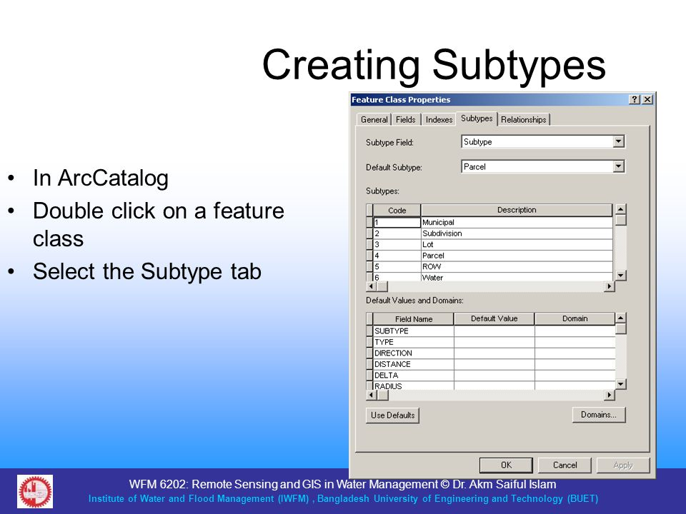 Creating Subtypes In ArcCatalog Double click on a feature class