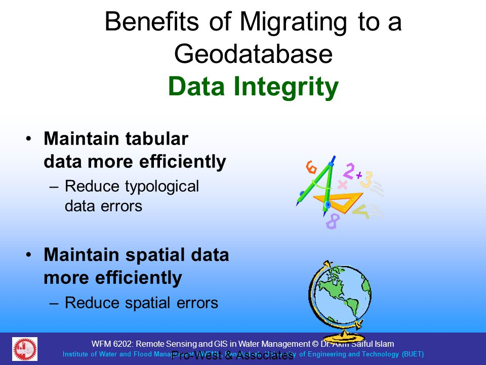 Benefits of Migrating to a Geodatabase Data Integrity