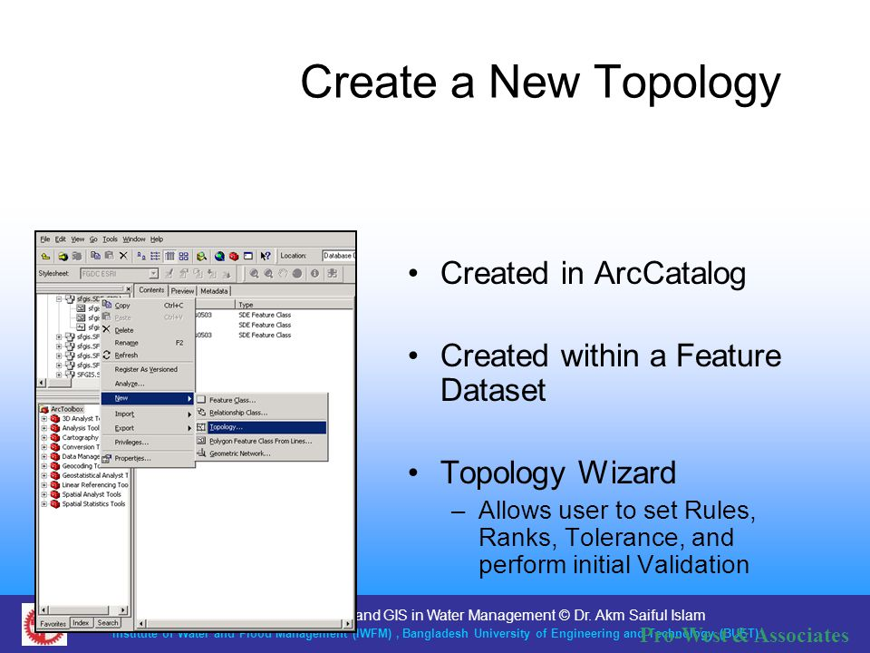 Create a New Topology Created in ArcCatalog