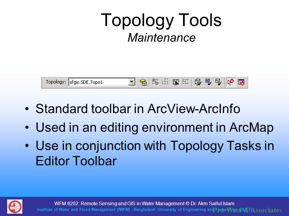 Topology Tools Maintenance