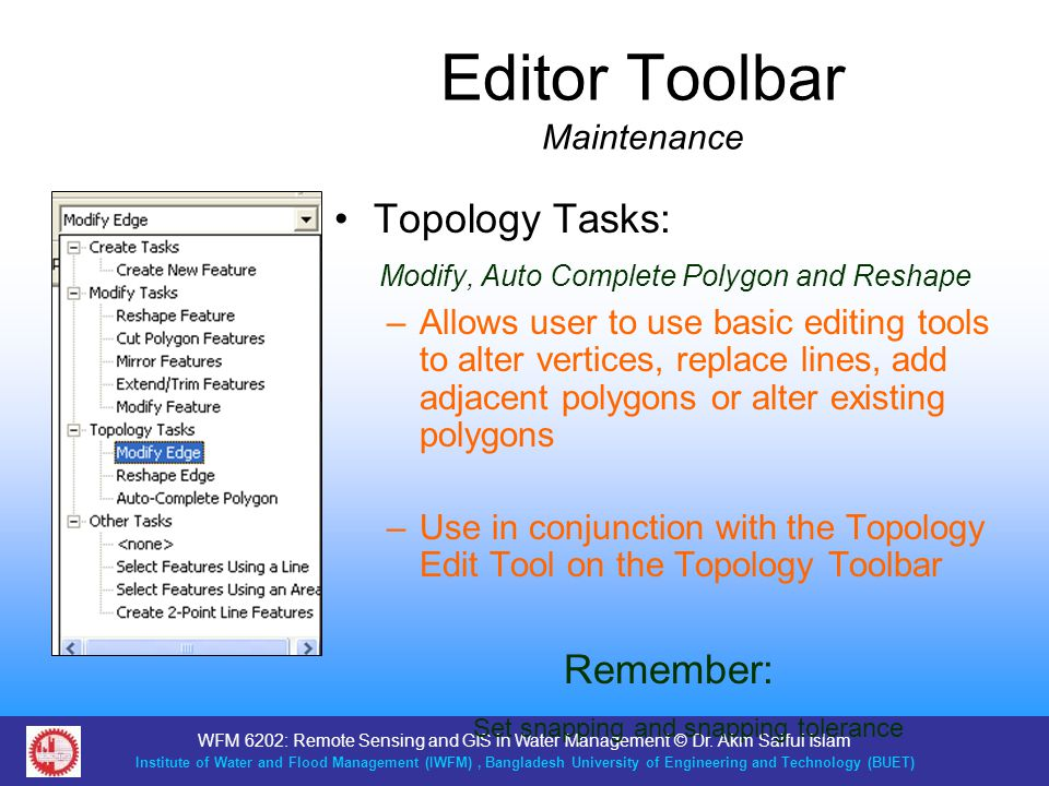 Editor Toolbar Maintenance