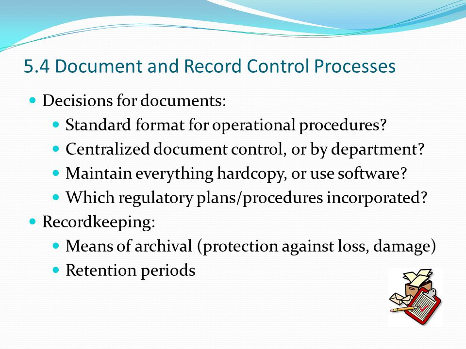 5.4 Document and Record Control Processes