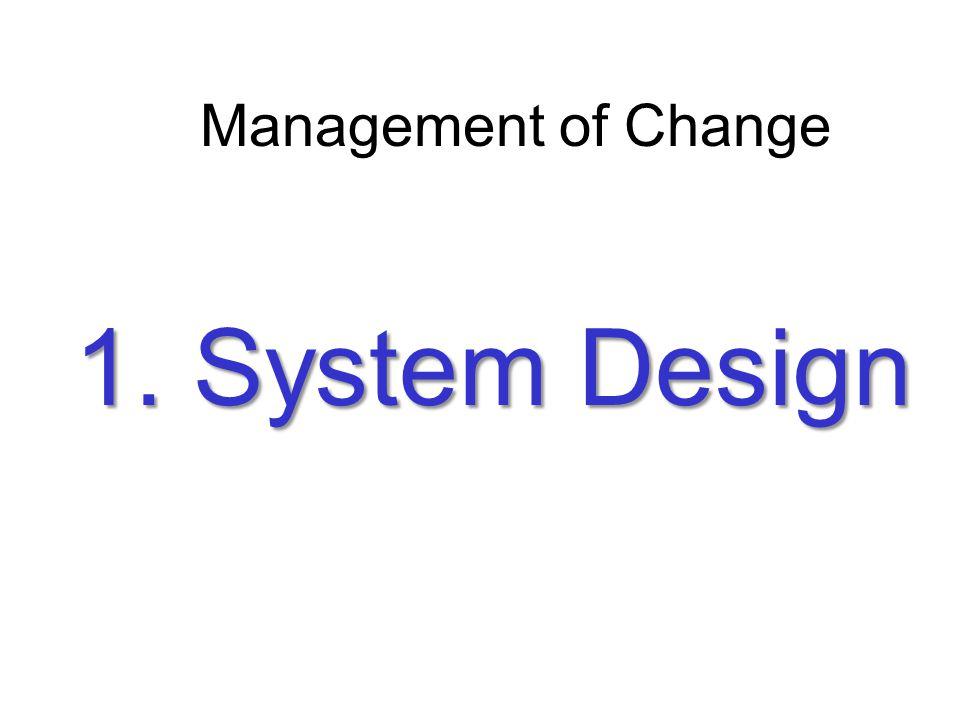 1. System Design Management of Change