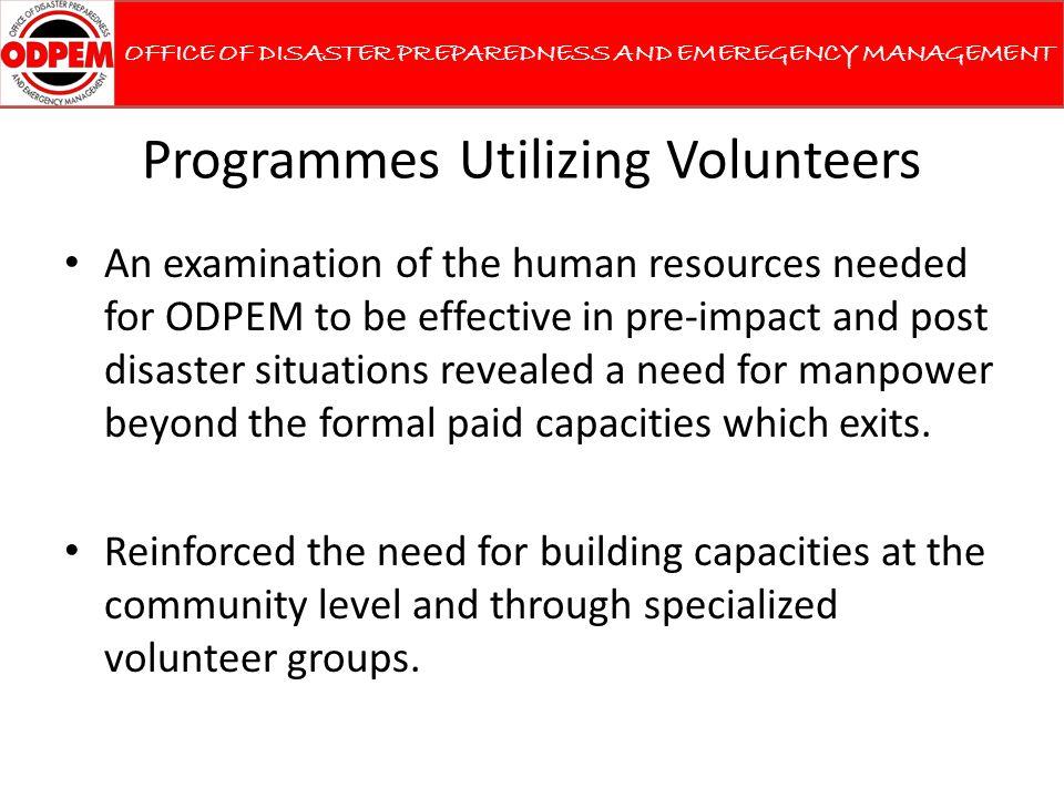 Programmes Utilizing Volunteers