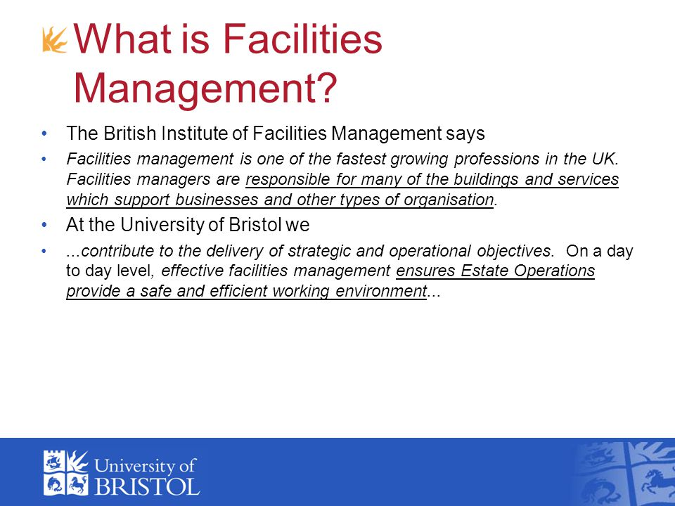 What is Facilities Management