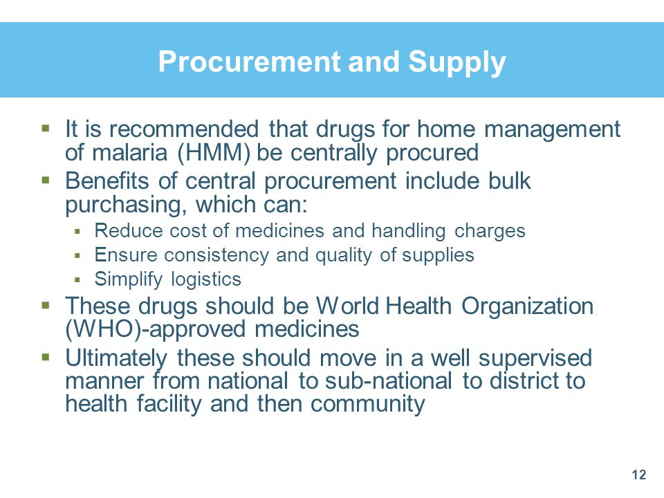 Procurement and Supply