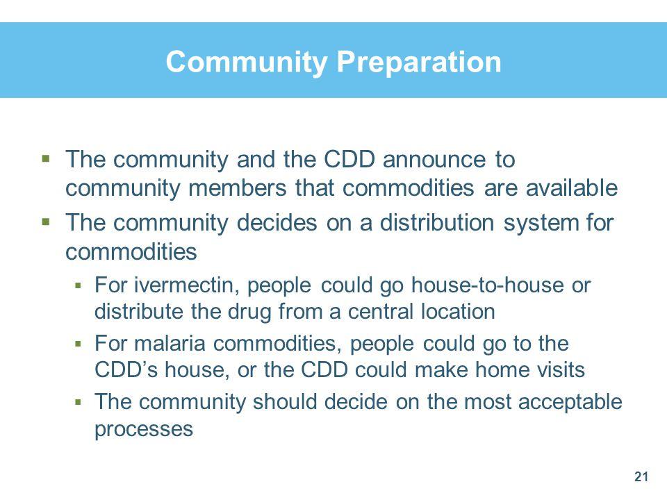 Community Preparation
