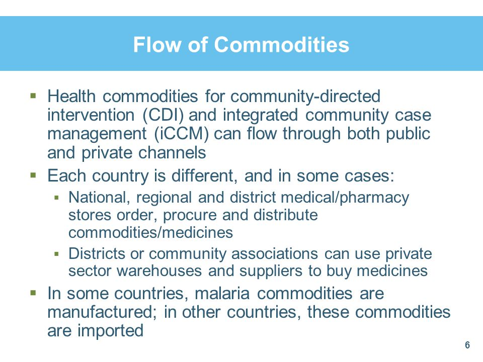 Flow of Commodities