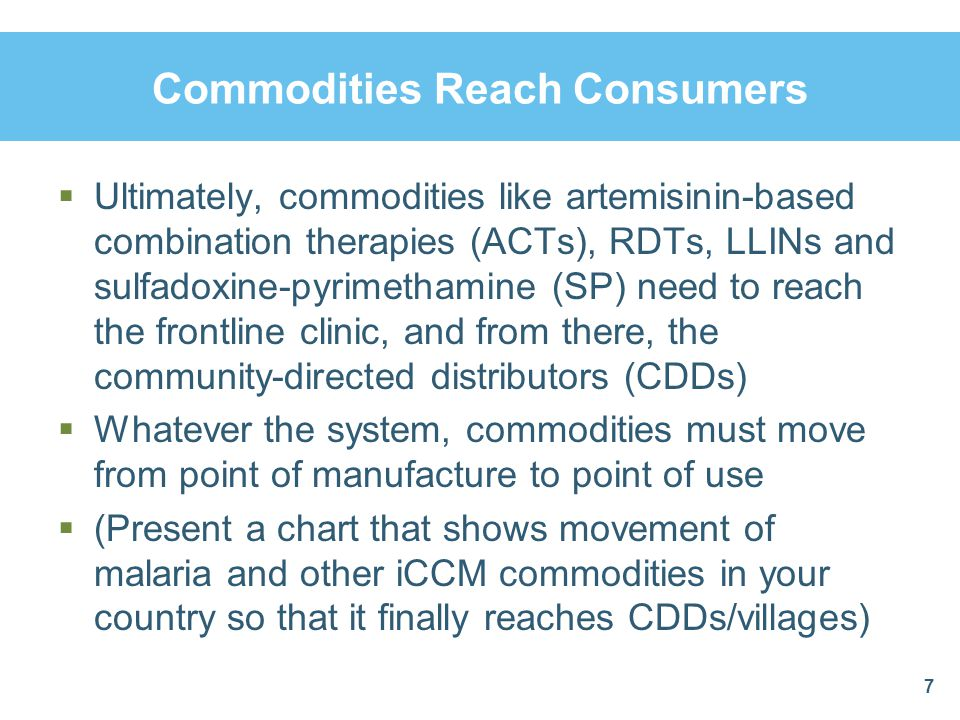 Commodities Reach Consumers