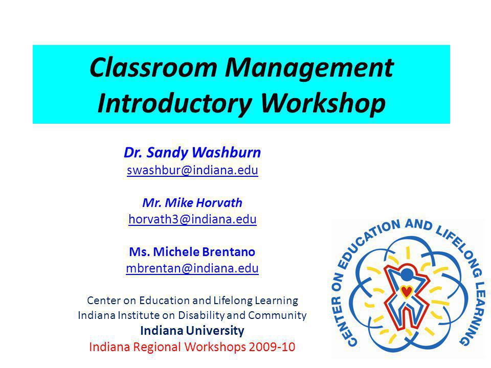 Classroom Management Introductory Workshop