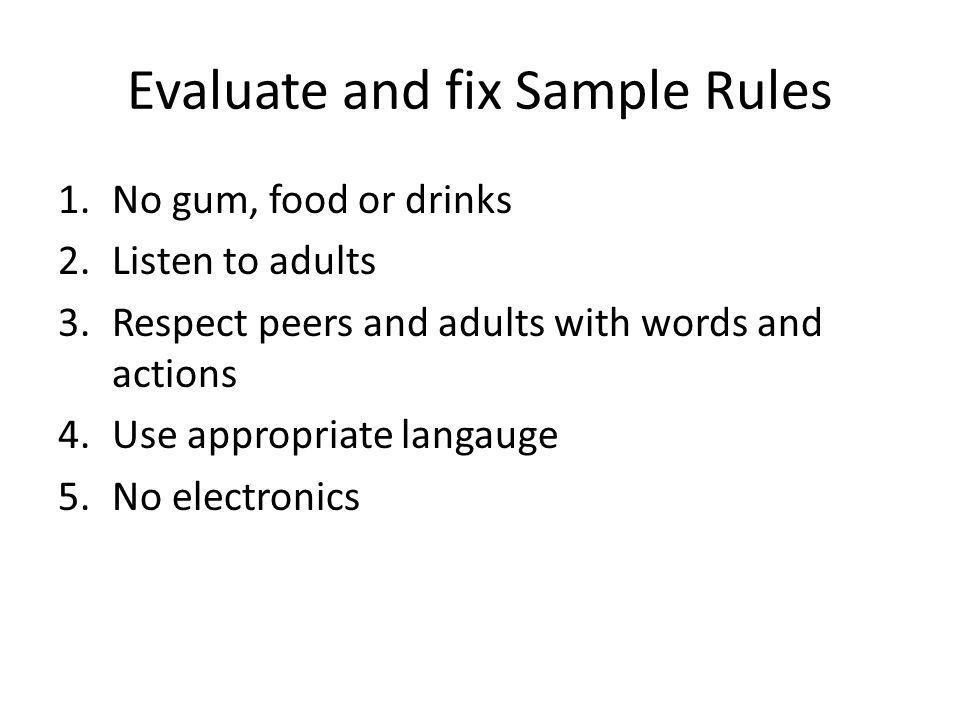 Evaluate and fix Sample Rules