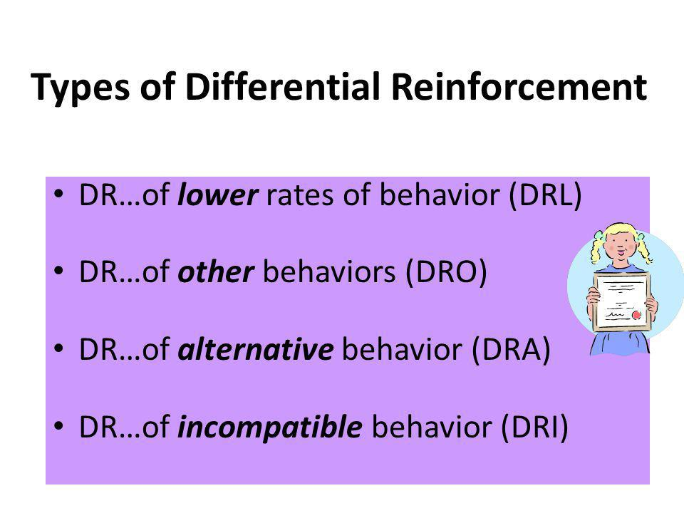 Types of Differential Reinforcement