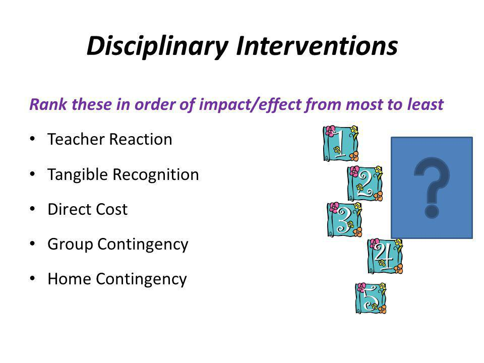Disciplinary Interventions