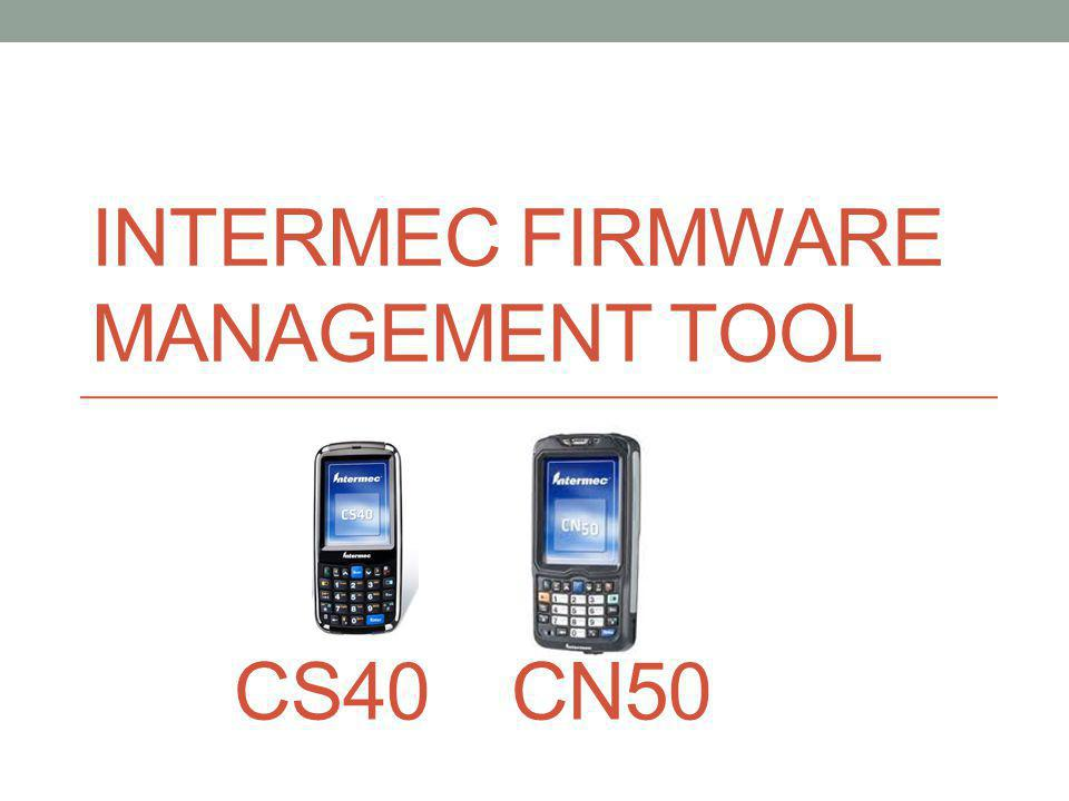 Intermec Firmware Management Tool