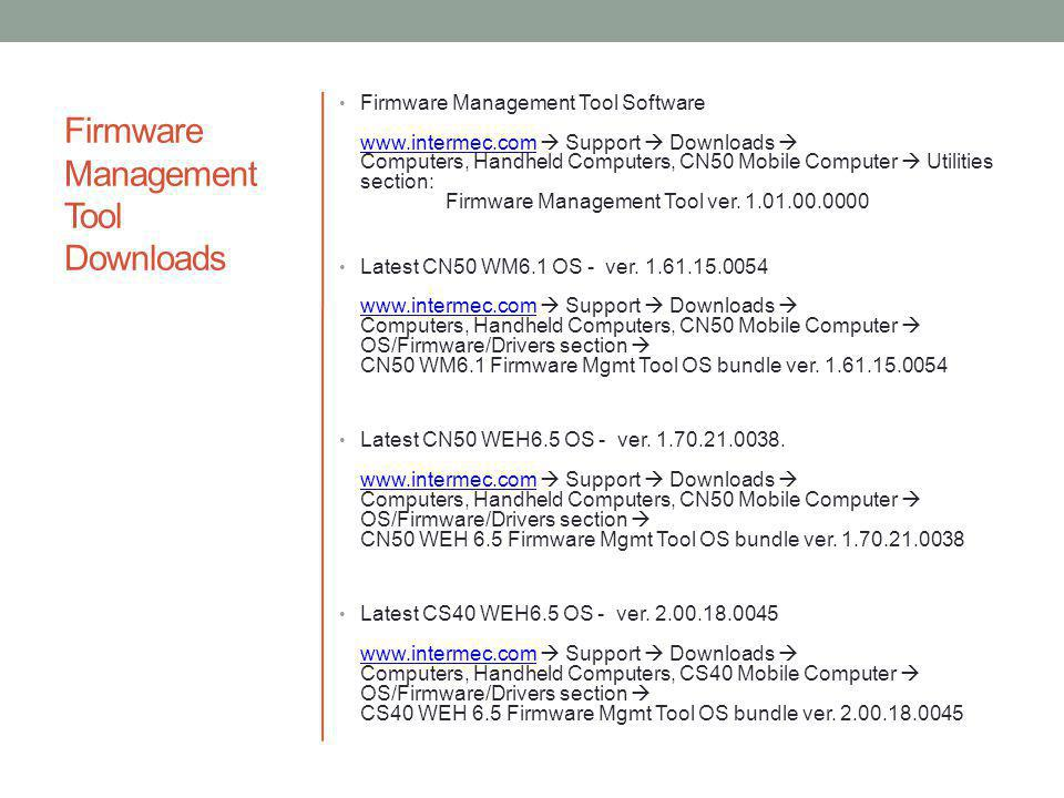Firmware Management Tool Downloads