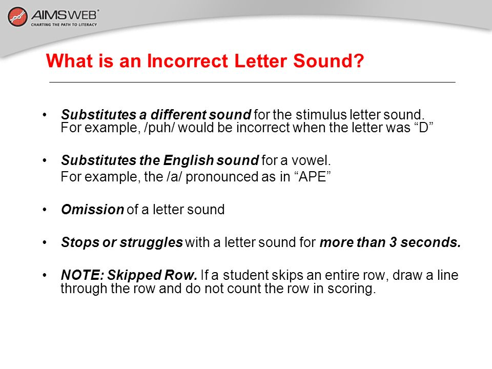 What is an Incorrect Letter Sound