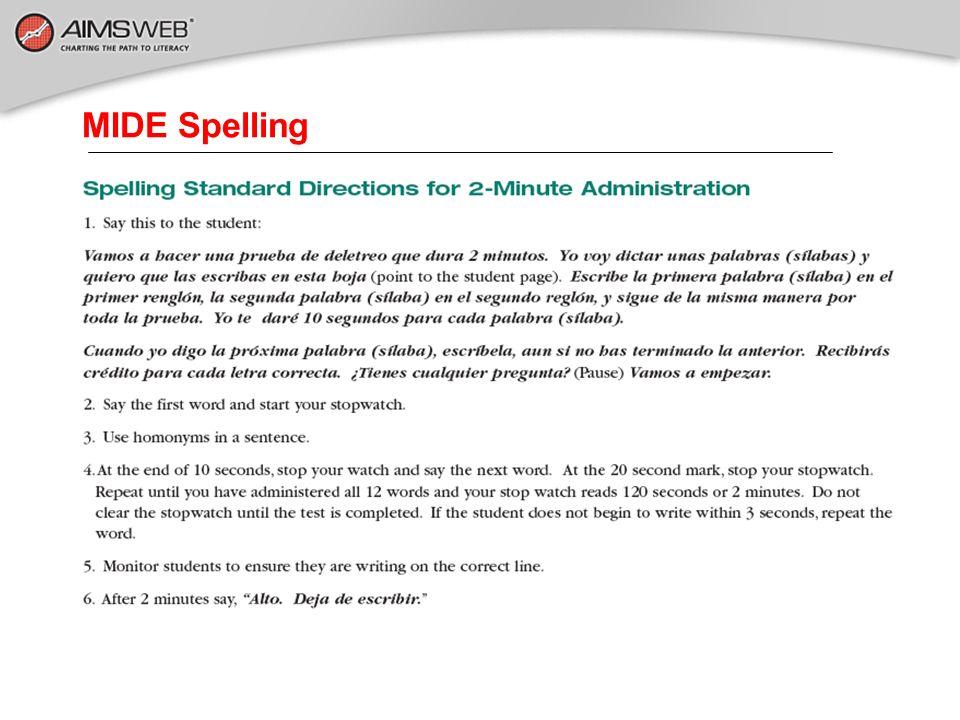 MIDE Spelling