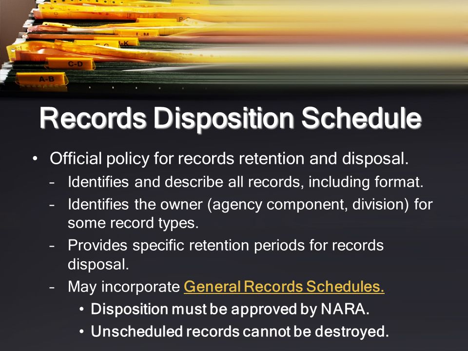 Records Disposition Schedule