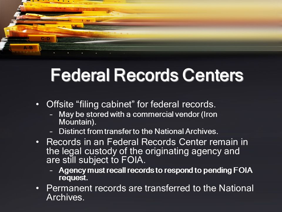 Federal Records Centers