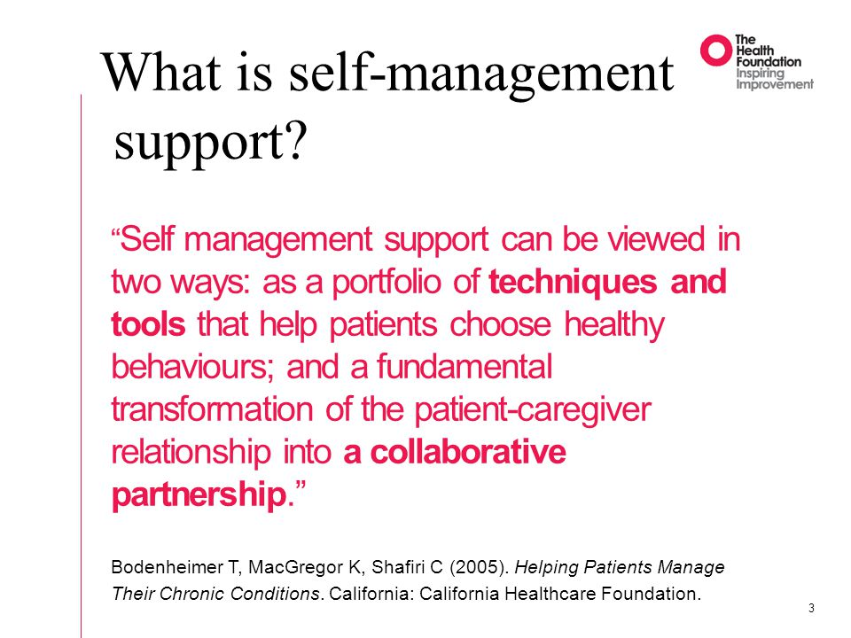 What is self-management support