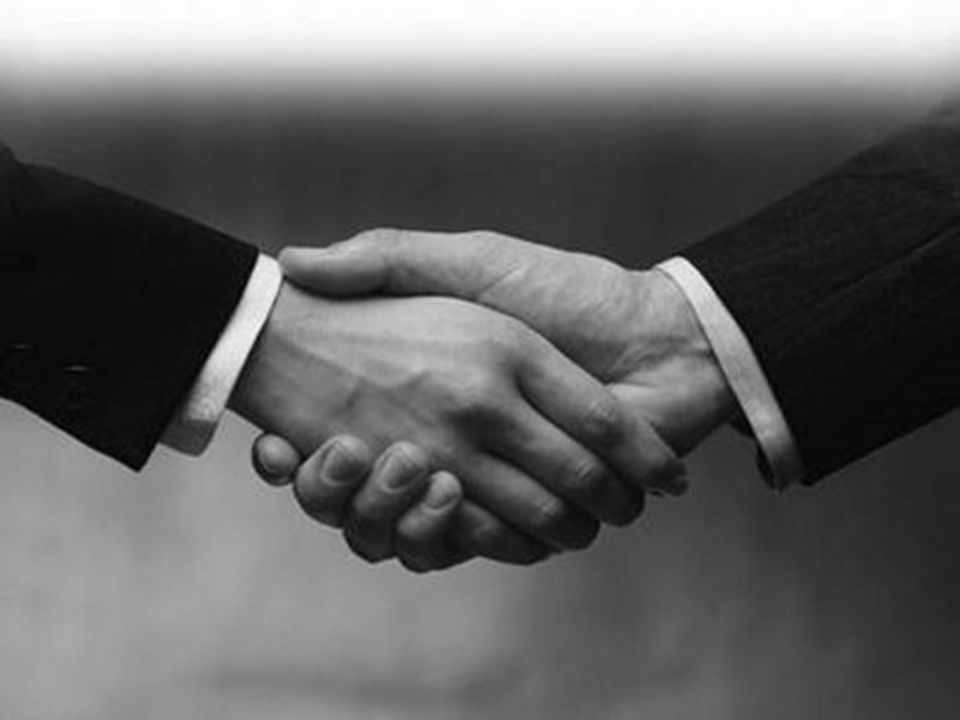 Handshake = sign of covenant