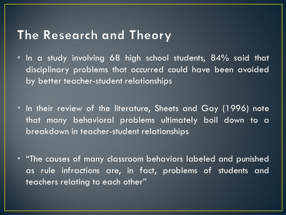 The Research and Theory