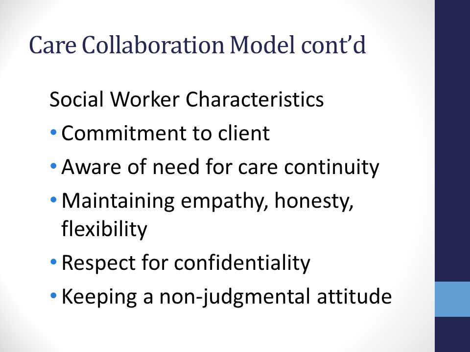 Care Collaboration Model cont'd