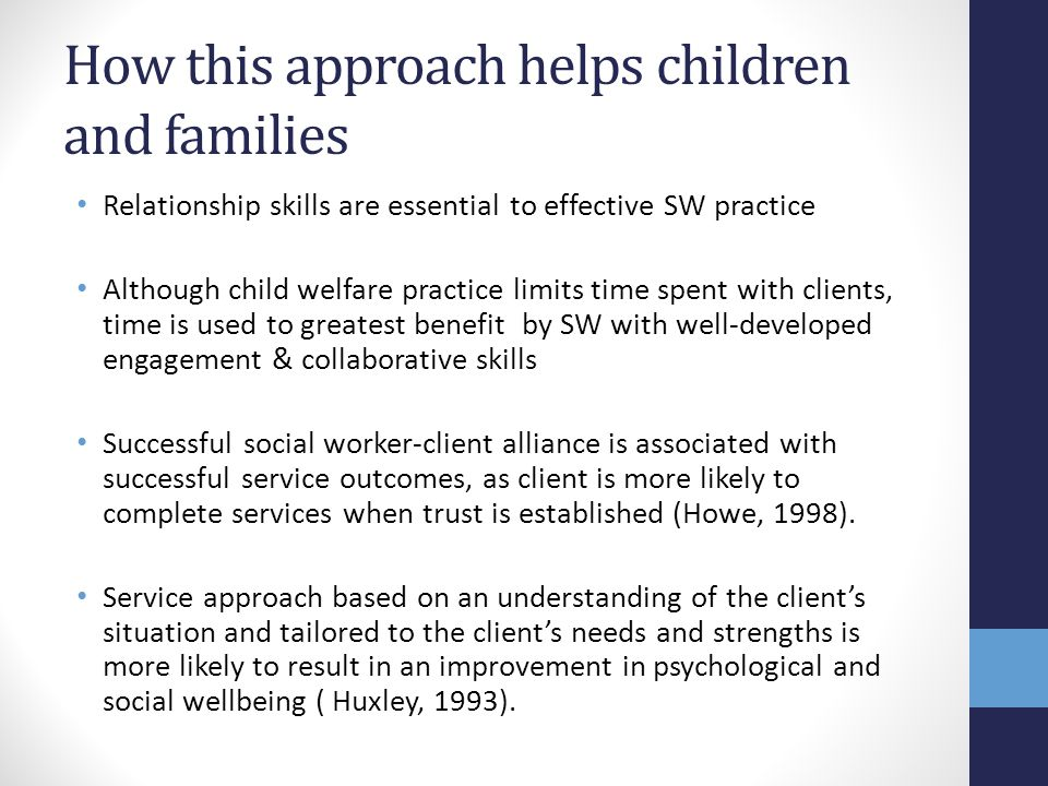 How this approach helps children and families