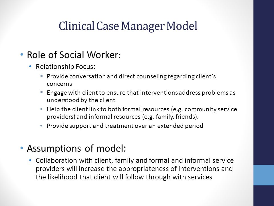 Clinical Case Manager Model