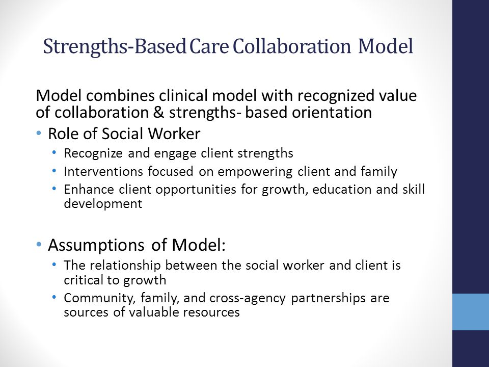 Strengths-Based Care Collaboration Model