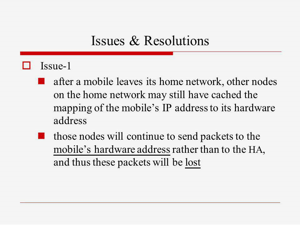 Issues & Resolutions Issue-1