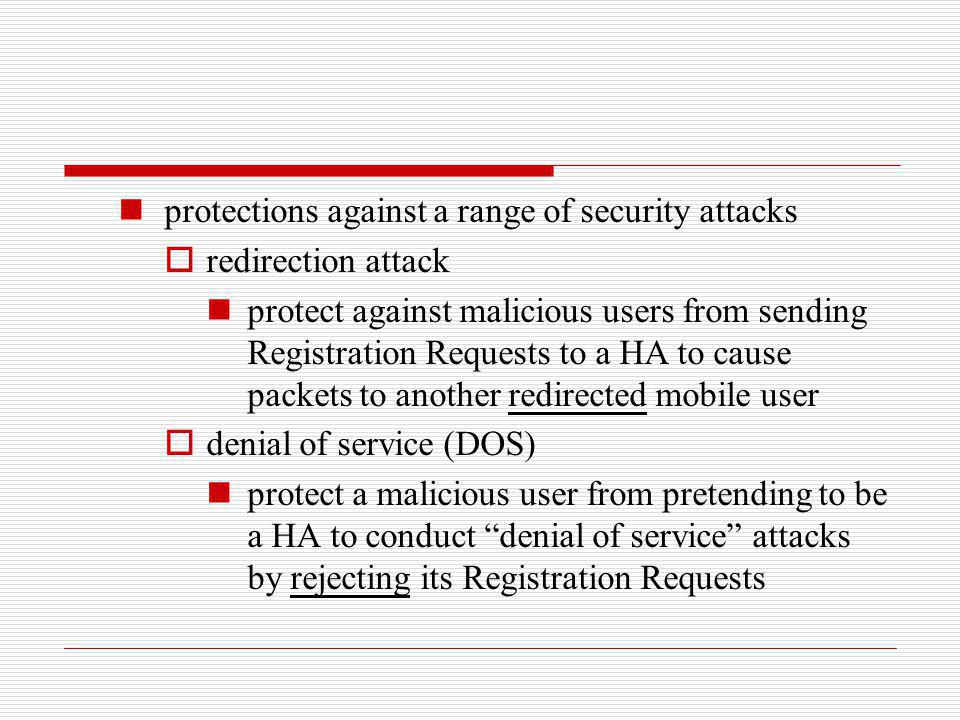 protections against a range of security attacks