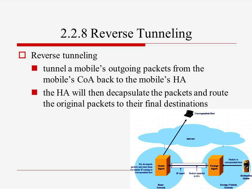 2.2.8 Reverse Tunneling Reverse tunneling