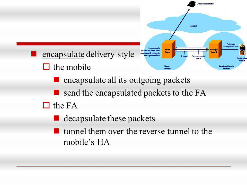 encapsulate delivery style