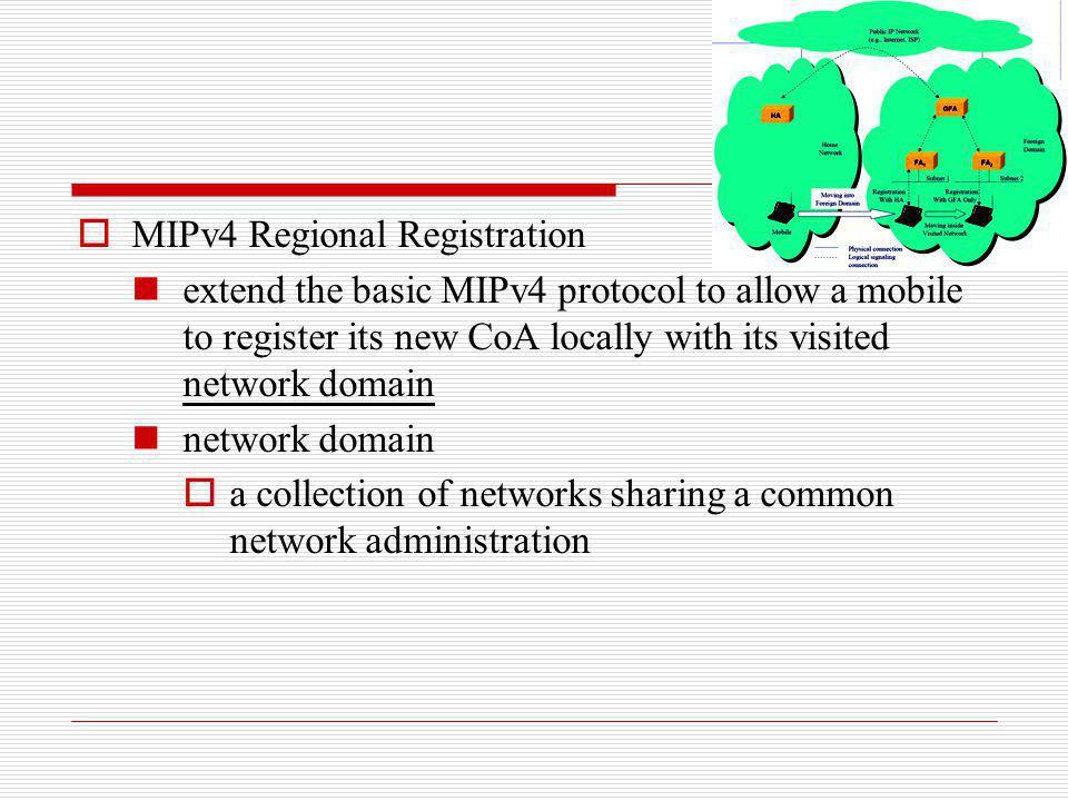 MIPv4 Regional Registration