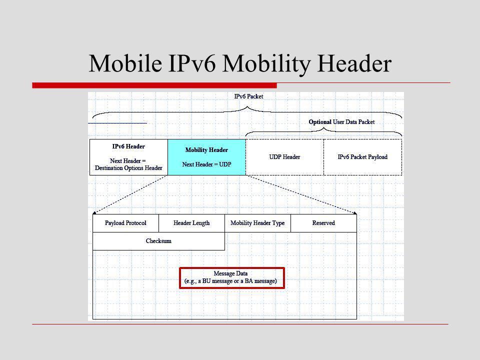 Mobile IPv6 Mobility Header