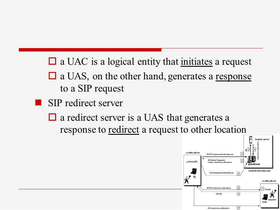 a UAC is a logical entity that initiates a request