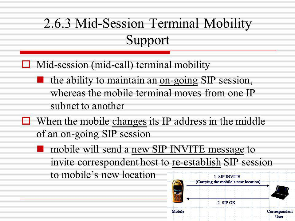 2.6.3 Mid-Session Terminal Mobility Support