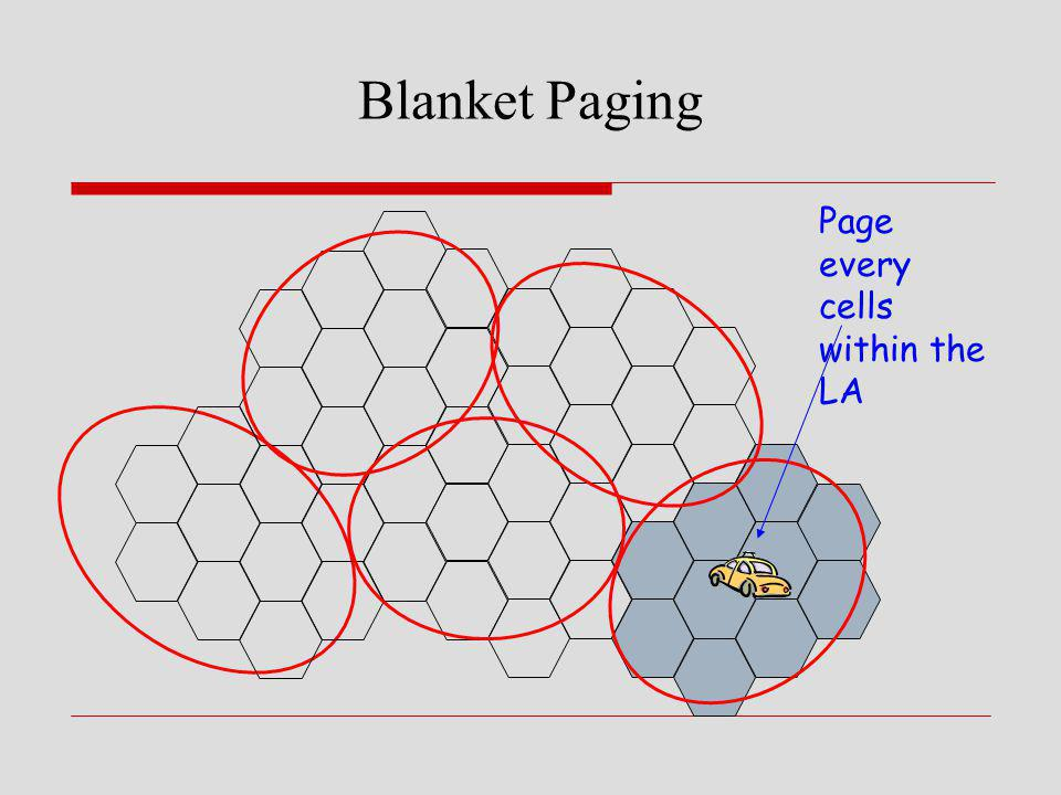 Blanket Paging Page every cells within the LA