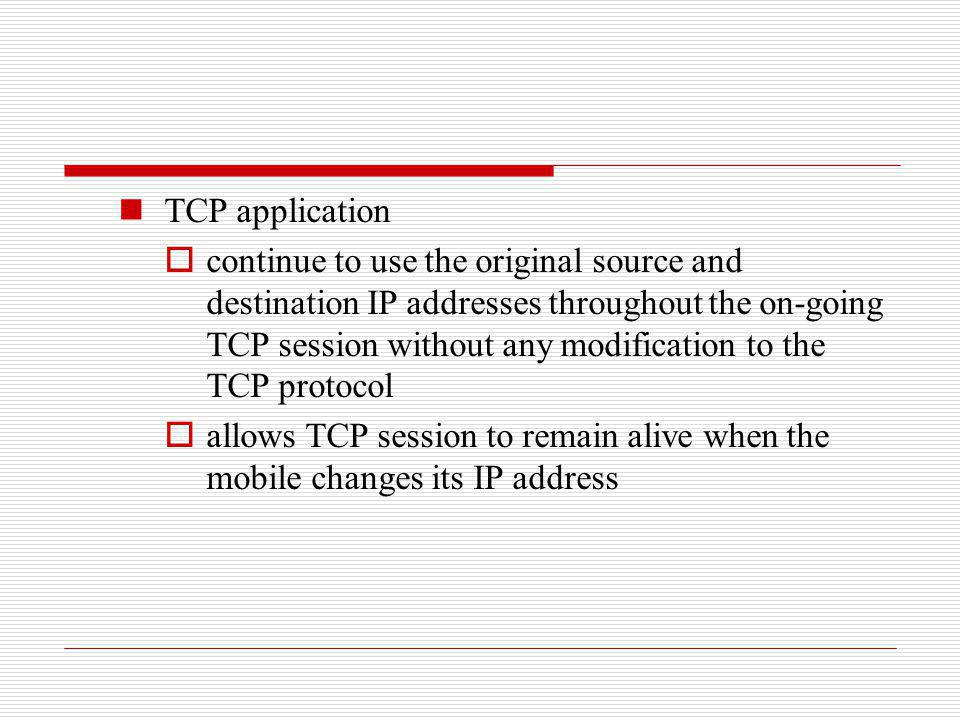 TCP application
