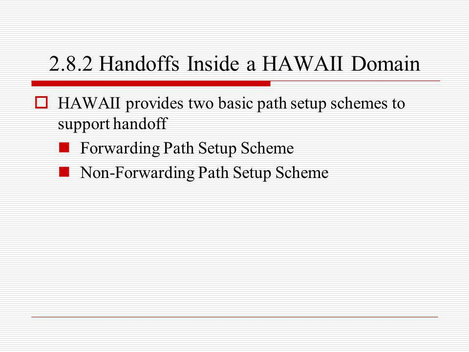 2.8.2 Handoffs Inside a HAWAII Domain