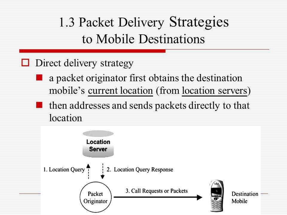1.3 Packet Delivery Strategies to Mobile Destinations