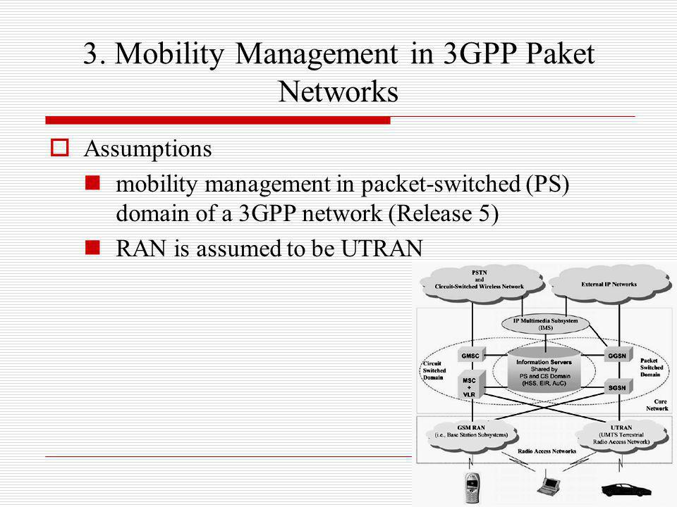 3. Mobility Management in 3GPP Paket Networks